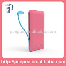 2014 new product 5000mah portable external power bank for lenovo
