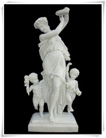 Art craft child and mother stone decor statue