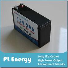 emergency light LiFePO4 12v 5ah battery pack