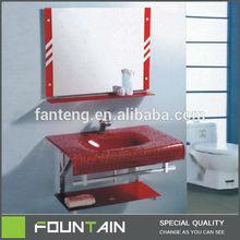 Glass Sink Bathroom Cabinet,Cook Room Furniture,Tempered Glass Vanity