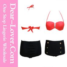 2014 latest design Summer High-waisted sexy Bikini Set