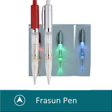 New style plastic click multi colored ball pen with led light,led pen light,promotional pen with led light