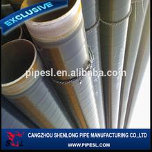 BLACK WELDED PE COATING CARBON STEEL PIPE,Tianjin Zhongdeli astm a36 spiral welded steel pipe with pe coating