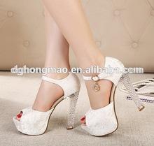 jeweled ivory wedding shoes