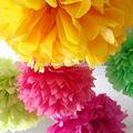 flores de papel para a decoração do partido