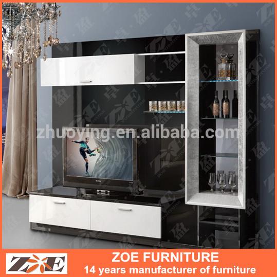 Led Tv Wooden Stand Designs : design wooden TV cabinet led in living room OW104, View modern design ...