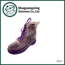 Cheap Yellow High Top Rubber Rain Boots Women's Cute Soft Rain boots Over Shoe Waterproof Shoes Sale Unisex boots B-817