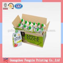 China Manufacturer Apple Sauce Pouch Corrugated Fruit Carton Box