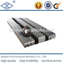 T163 material C45 JIS standard SRF4-2000 cnc flexible steering steel gear rack m4 with machined ends