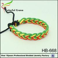 Fashion new trends bracelets multi colored sapphire bracelet with dacron thread