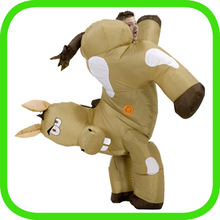 Inflatable horse costume