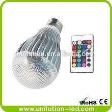 E26 LED RGB Flash Light Lamp Bulb 16 Color 9W 230V With Remote Controller