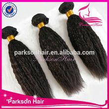 Fashion style 100% human hair 6A grade Chinese virgin hair bundles natural color curly hair weaving