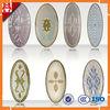 oval decorative glass door