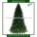 7.5ft 1300 pin vente à succès de décoration des arbres de Noël artificiels avec des matériaux PVC PE en forme de pieds métalliques