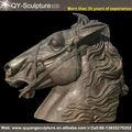 Grande taille de vie Bronze tête de cheval Sculpture