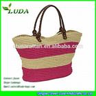 Crochet Paper straw totes handbags stripe style