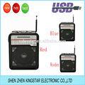 Rx-9100 portátil mini am/10 de fm de radio de banda sd reproductor mp3