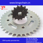hot sale to brazil trnasmission kit chinese motorcycle 428 chain and sprocket kits