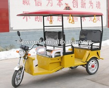 24 Mosfets Controller ABS plastic roof electric rickshaw for passenger, texi