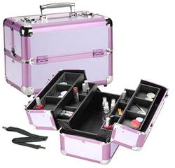 Lavender Aluminum Makeup Case