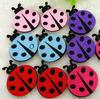 2015 new hotsale eco cheap wholesale gift handmade ladybug polyester toy decorations felt animal shapes for kids alibaba website
