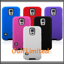 Hybrid 2 in 1 Silicon Skin case Hard Case For Samsung Galaxy S5 i9600