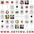 Instock apuramento& freesamples& nomes de flores pretas do mercado de yiwu para flores artificiais& frutas