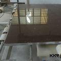 Kingkonree preto faísca pedra de quartzo da laje, Coffee brown pedra de quartzo