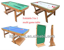 Wholesale stand up 3 in 1 multi game table