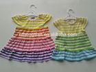 2014 summer new style girls stripe dress