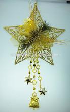 plastic star christmas bell ornament