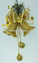 gold plastic christmas bell ornament