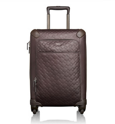 International Leather Zipper Carry-On Luggage