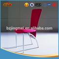 pintura de ferro mesa de jantar com cadeiras de couro vermelho pvc
