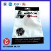 Plastic heat seal hanger bag for earphone packing