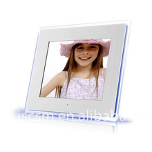 HD! 12 inch china digital photo frame wholesale battery power operated support