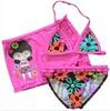 lovely girls wholesale bikini swimsuit with skirt