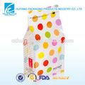 personalizado impreso el sello de calor caramelo decorativos de fondo plano de plástico ziplock bolsa