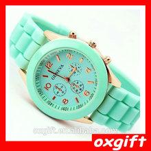 OXGIFT Promotion geneva Lady brand Watch Crystal Silicone Jelly watch for women wedding quartz watch
