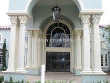 Golden Bay White Marble Roman House Pillar Designs