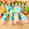 Custom Design Printed Polyester Dog Dress ,Wholesale Dog Dress Patterns with lace
