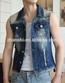 venta al por mayor nuevo diseño casual jean de mezclilla para chaleco de los hombres
