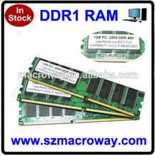Ram memory DDR 400MHZ 1GB 8BIT FOR AMD