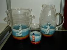 glass beer soft pvc plastic mug