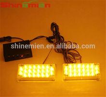 2x22 LED Amber Car Strobe Lights bulbs Grill Emergency Flash light bulb 12V