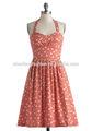 Bea& dot. en forme et arrondi robe licou de coton motif