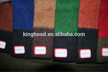 Wool blend brushed plaid fabric