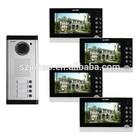 7 inch multi apartment intercom, vidoe & audio doorphone intercom for multi family villa