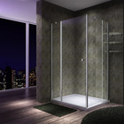 High quality simple shower room aluminum door pivot hinge shower room with 6mm toughened safety glass